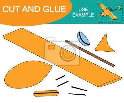 Bild von hydroplane (lufttransport). schneiden und kleben (einfügen ...