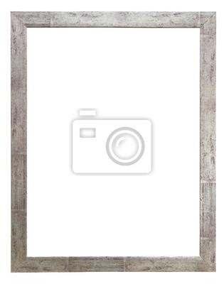 Bild Bilderrahmen aus Holz rustikal Silber