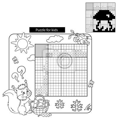 Bildung puzzle spiel für die schule kinder. coloring page ...