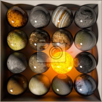 Billiard balls Planets