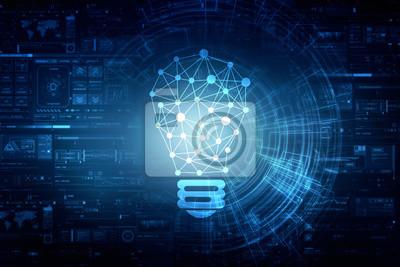 Bild Birne Zukunftstechnologie, Innovationshintergrund, kreatives Ideenkonzept
