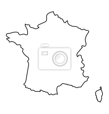 Bild black and white abstract map of France