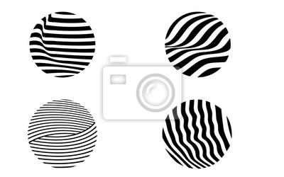 black and white illusive circle op art