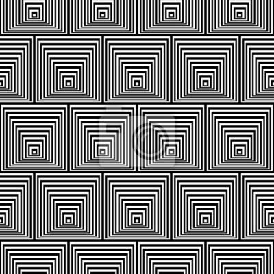 Black and White Opt Art Seamless