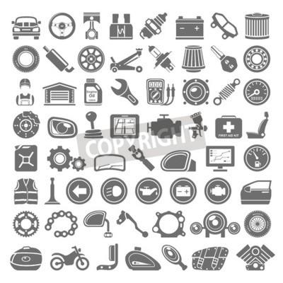 Bild Black Icons - Auto und Motorrad Teile