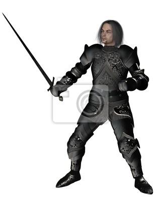 Black Knight in Dekoriert Armour