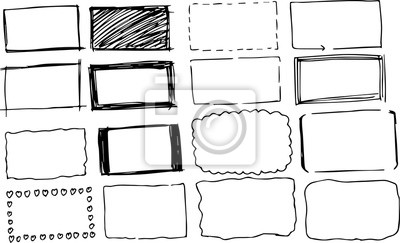 Bild Black Square frame variation illustration set
