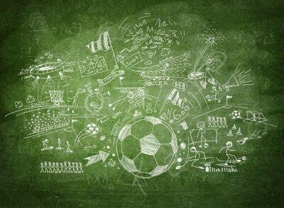 Bild Blackboard Fußball-Konzept