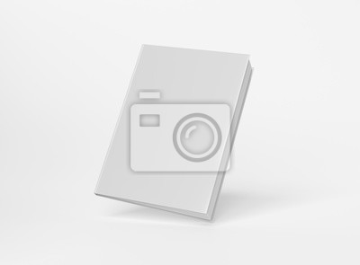 Bild Blank A4 book hardcover mockup floating on white background 3D rendering