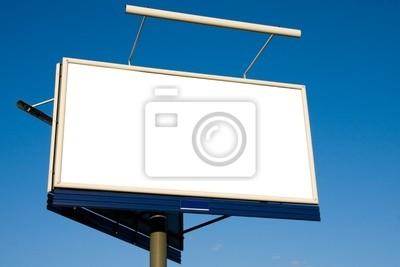 Bild Blank Billboard auf blauem Himmel