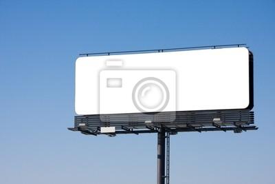 Bild Blank Billboard auf blauem Himmel, Platz für Werbung