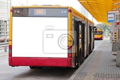 Bild Blank Billboard auf der Rückseite des Busses