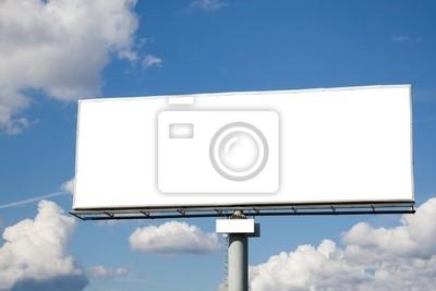 Bild Blank Billboard gegen blauen Himmel nützlich für die Werbung