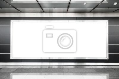 Bild Blank Billboard im modernen Interieur