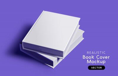 Bild Blank book cover mockup design layout with shadows for branding. Vector illustration.