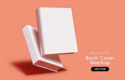 Bild Blank book cover mockup layout design with shadows for branding. Vector illustration.