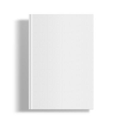 Bild Blank book cover template.