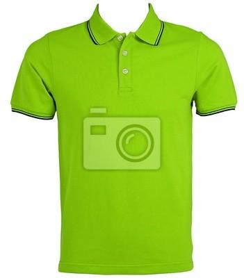 Bild Blank Green T-Shirts Vorne mit Beschneidungspfad.