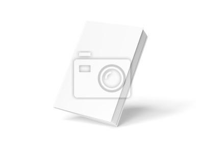 Bild Blank hardcover book mockup floating on white 3D rendering