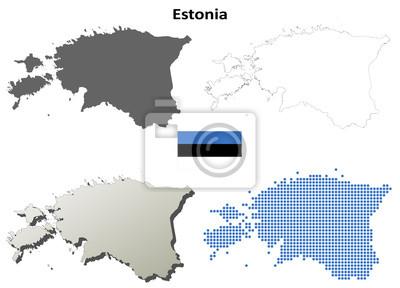 Blank Konturkarten Estland