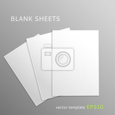 Blank papierbögen leinwandbilder • bilder Papierbogen, einfügen ...