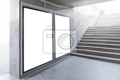 Bild Blank Werbetafeln oder Plakaten in Halle