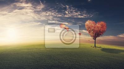 Blätter Abblasen herzförmige Baum