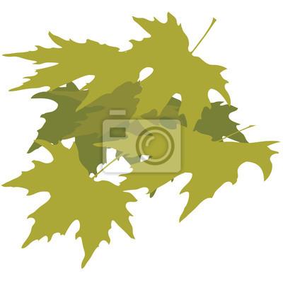 Blättern. Design für Abbildung, Logo, T-Shirt usw. Vektor.