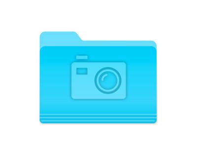 Blau Folder Icon