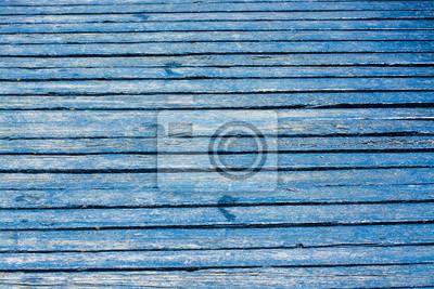 Blau Hölzerne Straße