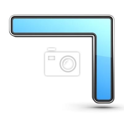Blau Icon-Nummer 7 in Modern Design in Metall-Border gemacht