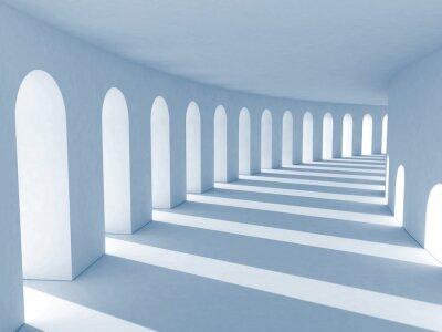 Bild Blau Kolonnade mit tiefen Schatten. Illustration