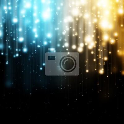 Blau und Gelb leuchtende Lichter