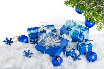 Blau und Silber