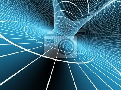 Blaue abstrakte 3D-Hintergrund