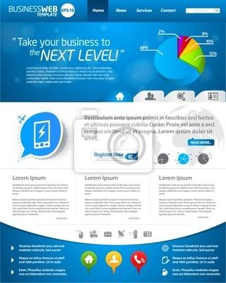 Blaue Business-Website-Templates