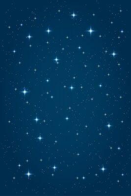 Bild Blaue Nacht Sternenhimmel Hintergrund. Vector vertikale Design-Vorlage
