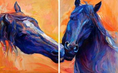 Bild Blaue Pferde