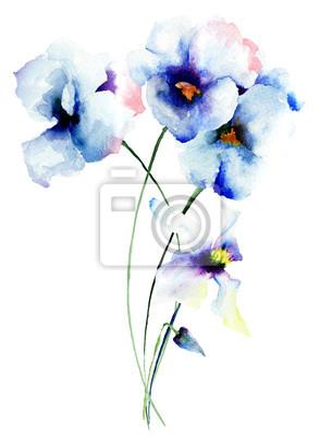 Blaue Stiefmütterchen Blumen
