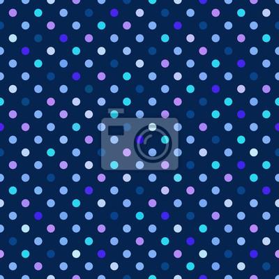 Blaue Tupfen Nahtlose Muster