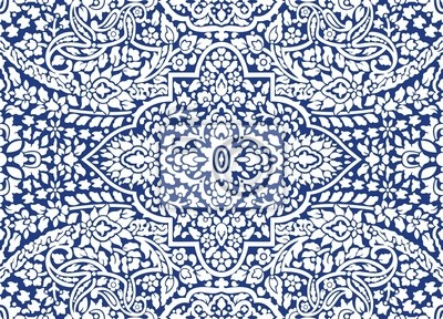 Blaue Zier