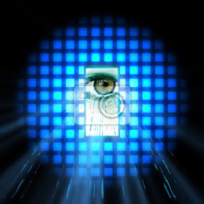 Blaues Auge Licht
