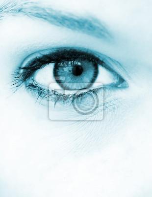 Blaues Auge Vision