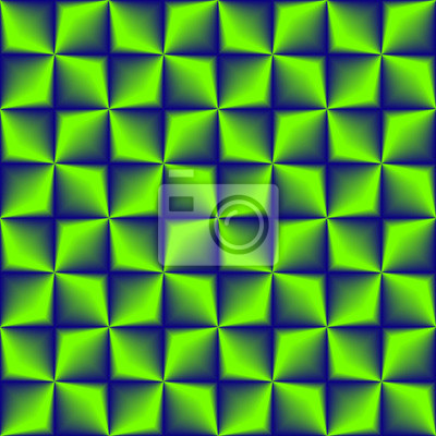 Blaues Grün gemischtes geometrisches nahtloses Muster.