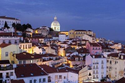 Bild Blick auf Altstadt in Lissabon in Portugal