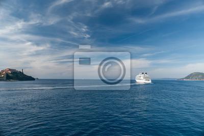 Blick auf die Bucht in der Nähe der Insel Elba, Toskana Italien