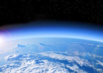 Bild Blick auf die Erde aus dem All