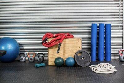 Bild Blick auf Fitnessgeräte