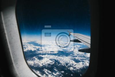 Blick Aus Dem Flugzeug über Den Wolken Leinwandbilder Bilder