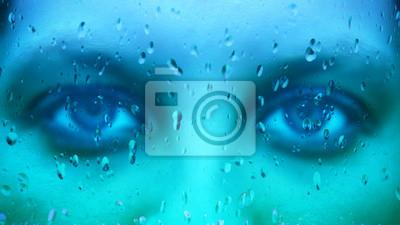 Blick durch ein Fenster - Fokus auf Vordergrund